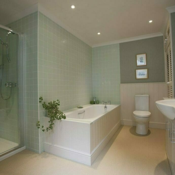 Mylor Private Residence Bathroom wallpaper Camellia Interiors