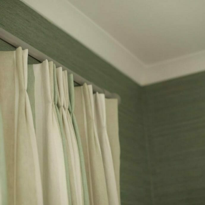 Mylor Private Residence Double Pinch Pleat Curtain Camellia Interiors