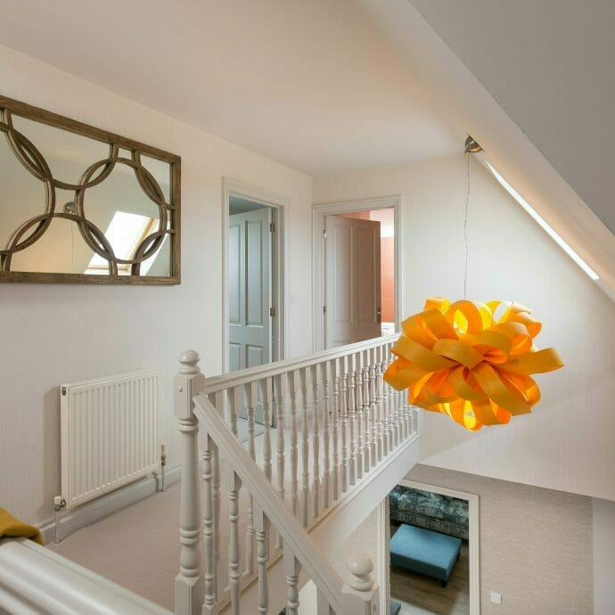 Landing in North Cornwall Holiday Home with LZF Pendant