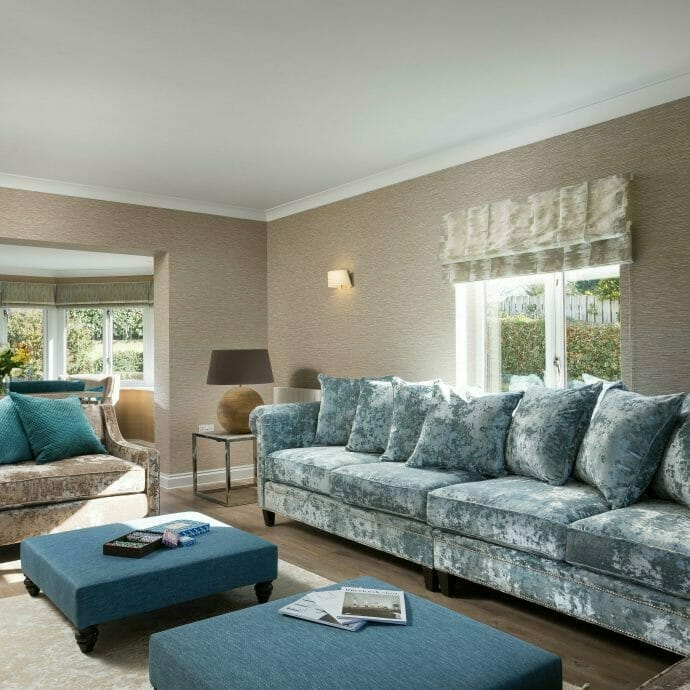 Luxury Living Room In Polzeath Holiday Home